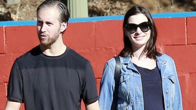 Anne Hathaway Steps Out in Los Angeles, Already Showing Off That Pregnancy Glow