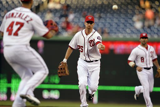 Gonzalez allows 1 hit in Nats' 8-1 win over Reds