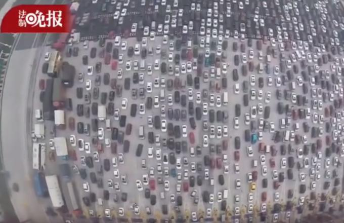 Drone Captures Footage of Ridiculous Traffic Jam in China