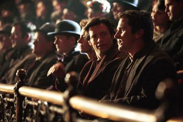 Hugh Jackman and Christian Bale in Touchstone Pictures' The Prestige