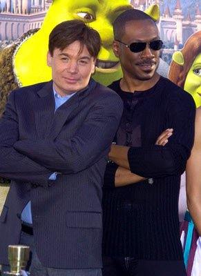 Mike Myers and Eddie Murphy at the L.A. premiere of Dreamworks' Shrek 2