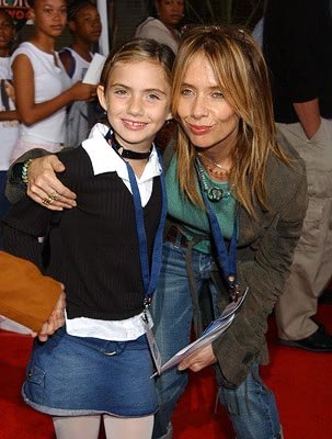 Rosanna Arquette and daughter at the LA premiere of Universal's Dr. Seuss' The Cat in the Hat