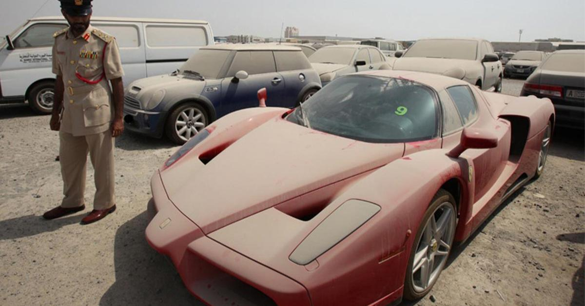 18 Pictures Of Abandoned Supercars In Dubai