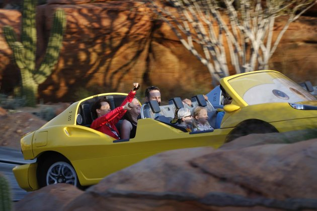 People ride the Radiator Springs …