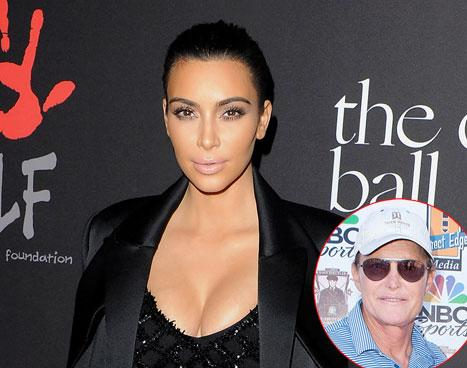 "Kim Kardashian Supports Bruce Jenner ""100 Percent,"" He's ""the Happiest"" She's Ever Seen Him"