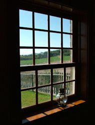 Create faux windows in your master bedroom to create a beautiful view.