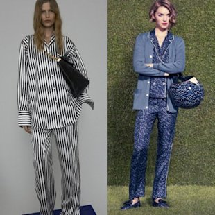 Resort 2012 collections showcased pajama-like outfits. Photos courtesy of Celine and Louis Vuitton (via FabSugar)