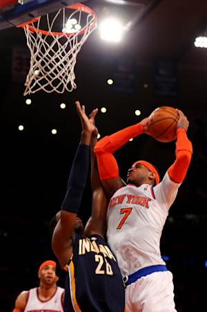 Anthony has 28, Knicks beat Pacers to stay alive