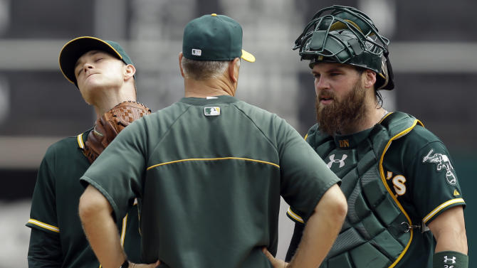Athletics out of top wild-card spot, Texas sweeps