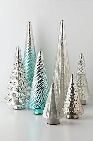 Cool Silver and Glass Trees