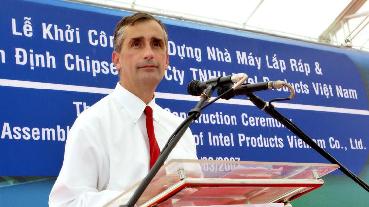 Intel taps COO Krzanich as chipmaker's next CEO