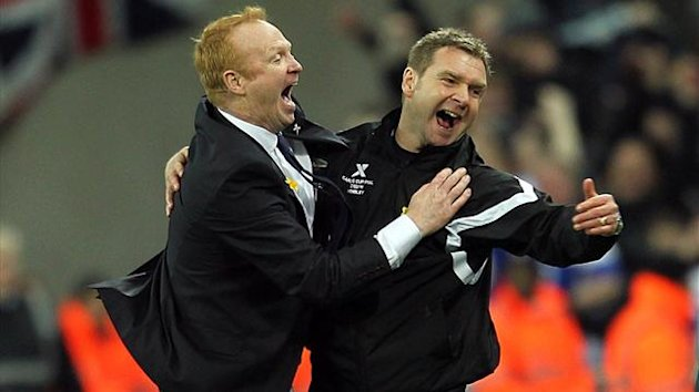 Alex McLeish his assistant Peter Grant