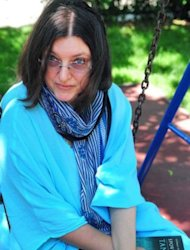 Romanian writer Tatiana Niculescu-Bran in a Bucharest park on May 11. Niculescu-Bran's book about a 2005 exorcism that left one girl dead and caused a media frenzy has inspired Palme d'Or winner Cristian Mungiu's newest entry in the Cannes film festival
