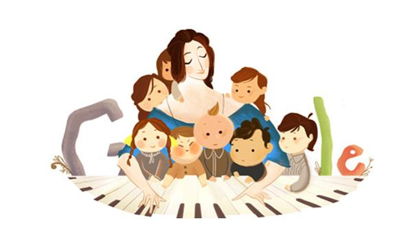 Google Doodle Pays Tribute to Pianist Clara Schumann