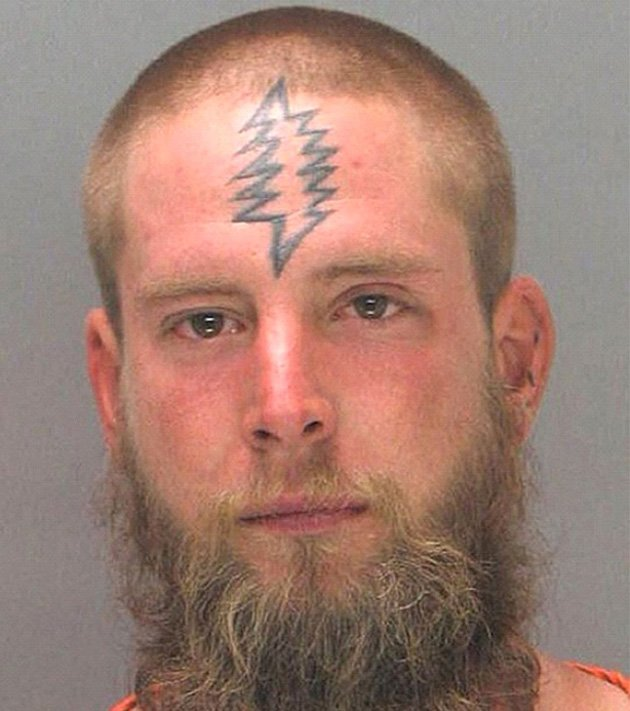 Criminal tattoos: Mugshots reveal distinctive tattoos on faces of