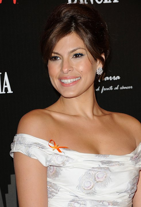 The Spirit benefit cocktail party Madrid Spain 2008 Eva Mendes