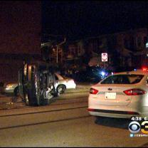 1 Injured In Hunting Park Crash