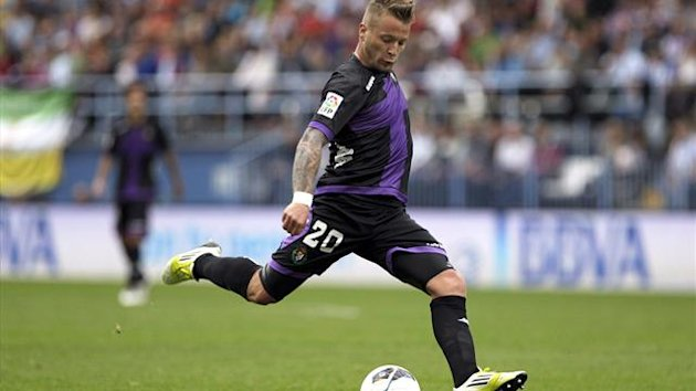 Real Valladolid's German midfielder Patrick Ebert