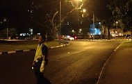 Police have cordoned off the junction from Marine Parade towards Amber Road. (Yahoo! photo)
