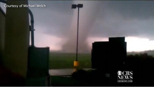 Caught on tape: Twister near Newcastle, Okla.