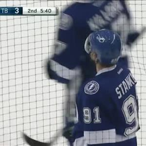 Anders Lindback Save on Steven Stamkos (14:19/2nd)