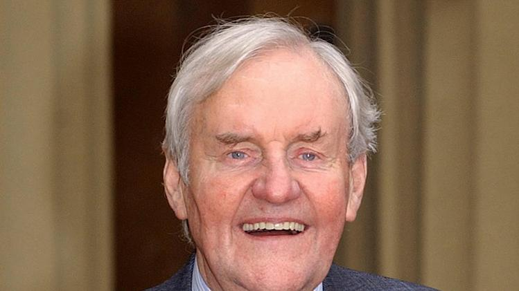 "FILE - This Nov. 13, 2003 photo from files shows veteran actor Richard Briers, 69, at Buckingham Palace, London after receiving an award. British actor Richard Briers, an avuncular presence on TV and movie screens for decades, has died at the age of 79. Briers' agent says the actor died at his London home on Sunday, Feb. 17, 2013. A former heavy smoker, he had suffered from emphysema. Briers starred in the 1970's sitcom ""The Good Life"" as Tom Good, a man who decides to quit the urban rat race for a life of self-sufficiency. It is regularly voted one of the greatest British sitcoms of all time, and is still repeated on television. (AP Photo/PA, Kirsty Wigglesworth)  UNITED KINGDOM OUT  NO SALES  NO ARCHIVE"