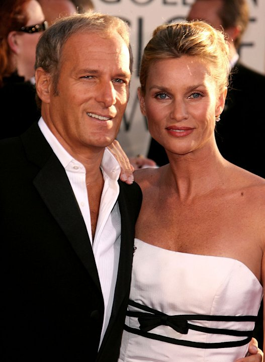 Michael Bolton and Nicollette Sheridan at the 64th annual Golden Globe Awards.