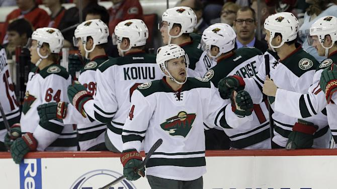 Pominville lifts Wild over Hurricanes 3-2 in SO