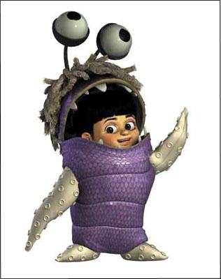 Boo ( Mary Gibbs ) in costume in Disney's Monsters, Inc.