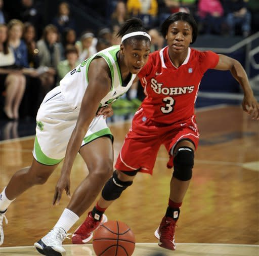 Diggins scores 18, No. 2 Irish beat St. John's