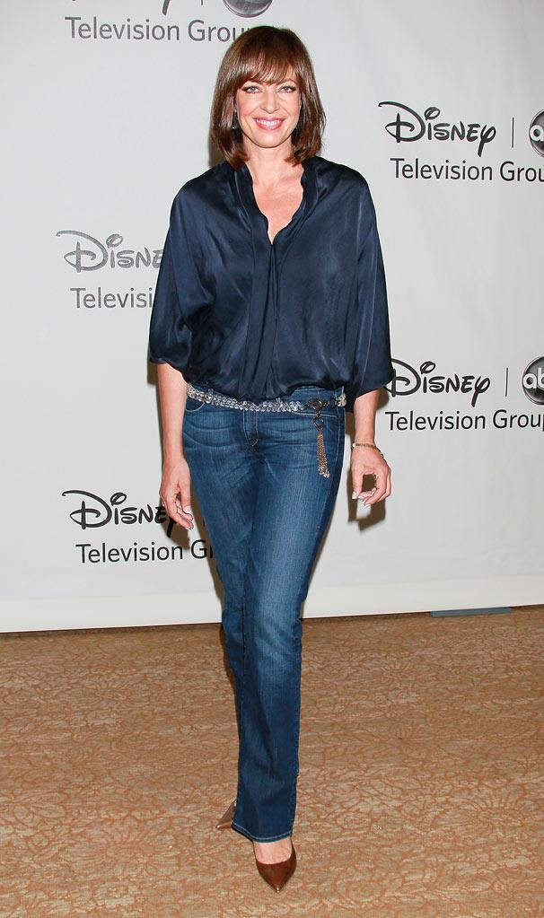 """Mr. Sunshine's"" Allison Janney arrives at the Disney/ABC Television 2010 TCA Summer Press Tour on August 1, 2010 in Beverly Hills, California."
