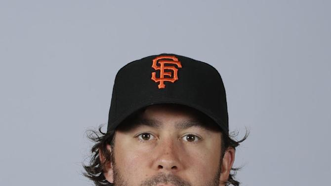 This is a 2015 photo of Brandon Hicks of the San Francisco Giants baseball team. This image reflects the Giants active roster as of Feb. 27, 2015, when this image was taken. (AP Photo/Darron Cummings)