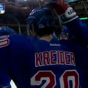 Chris Kreider scores on the doorstep of Ramo