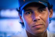 "Spanish tennis player Rafael Nadal gives a press conference at the Brazil Open in Sao Paulo, Brazil, on February 12, 2012. Nadal will not play his scheduled doubles match at the Brazil Open Wednesday because of ""knee overuse"", organizers said"