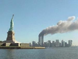 Statue of Liberty and WTC Fire