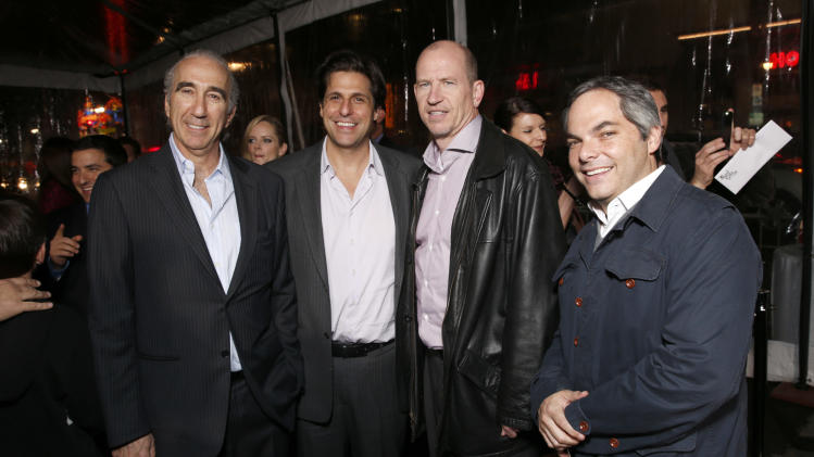"Chairman and CEO of MGM Gary Barber,  President of MGM Jonathan Glickman, Vice Chairman of Paramount Pictures Corporation Rob Moore and President/ Paramount Film Group Adam Goodman attend the premiere of ""Hansel & Gretel Witch Hunters"" on Thursday Jan. 24, 2013, in Los Angeles.  (Photo by Todd Williamson/Invision/AP)"