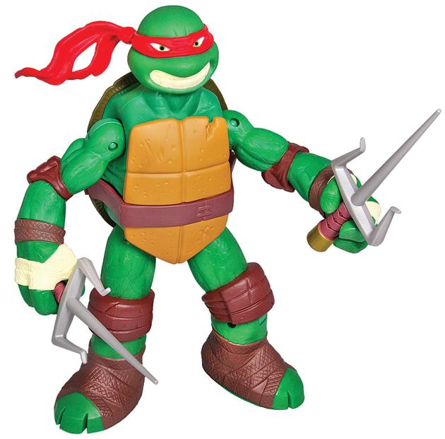 "Teenage Mutant Ninja Turtles- 11"" Battle Shell Figures:  This turtle doesn't need help from Splinter! The new figurines carry their ninja arsenal in their bulletproof Battle Shells, so they are ready"