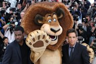 "US actor Chris Rock and US actor Ben Stiller (R) pose during the photocall of ""Madagascar 3 Europe's Most Wanted"" presented out of competition at the 65th Cannes film festival. It may only be as a talking lion, but Stiller joked on Thursday that coming to Cannes with the cartoon romp ""Madagascar"" could be a stepping stone to arthouse glory"