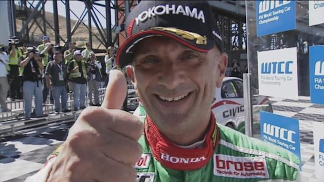 Gabriele Tarquini won round 18 as Honda took the title
