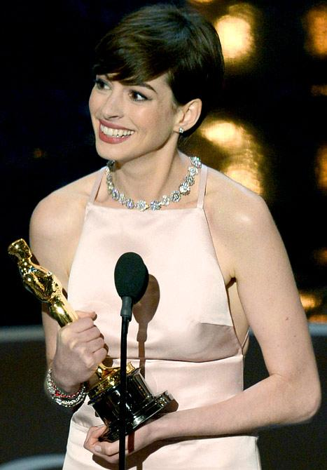 Anne Hathaway Wins Oscar for Best Supporting Actress, Gushes to Husband Adam Shulman in Acceptance Speech