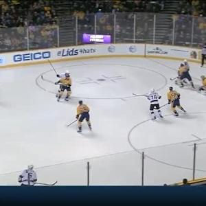 Pekka Rinne Save on Robyn Regehr (01:36/2nd)