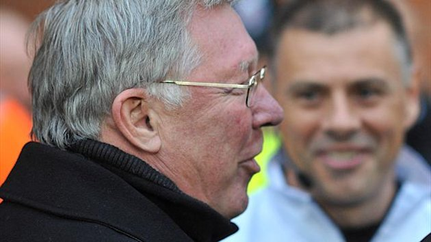 Sir Alex Ferguson and Mark Halsey (PA Sport)