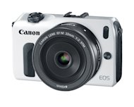 The Canon EOS M mirrorless camera