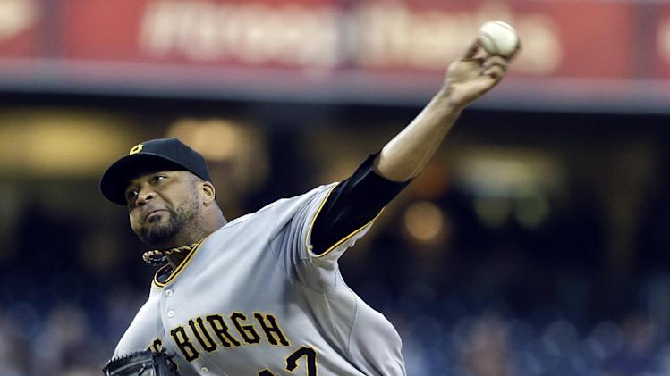 Liriano strikes out 13 in 3-1 Bucs win over Padres