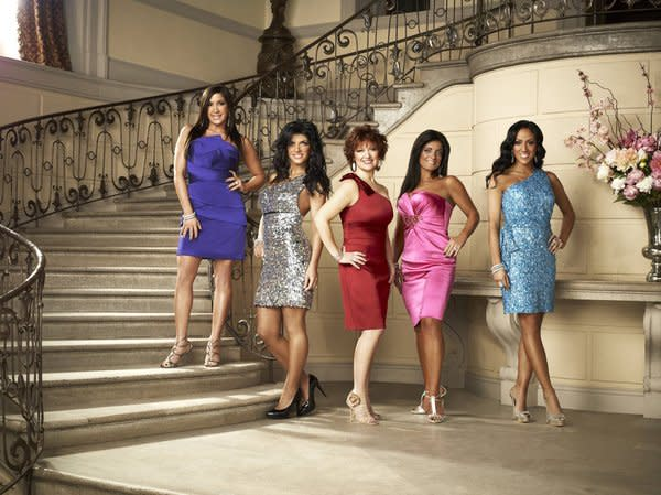 THE REAL HOUSEWIVES OF NEW JERSEY -- Season:3 -- Pictured: (l-r) Jacqueline Laurita, Teresa Giudice, Caroline Manzo, Kathy Wakile, Melissa Gorga