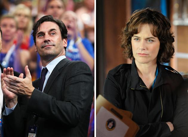 Jon Hamm and Sarah Clarke