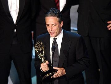 "Jon Stewart of ""The Daily Show"" Outstanding Writing for a Variety, Music or Comedy Program Emmy Awards - 9/19/2004"