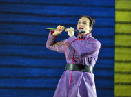 In this June 10, 2012 handout photo provided by the San Francisco Opera, Alek Shrader as Tamino is shown during a scene from the final dress rehearsal of &quot;The Magic Flute.&quot; The San Francisco Opera&#39;s summer season includes a musically rousing rendition of Verdi&#39;s Attila, and a visually captivating take on Mozart&#39;s The Magic Flute. (AP Photo/San Francisco Opera, Cory Weaver)