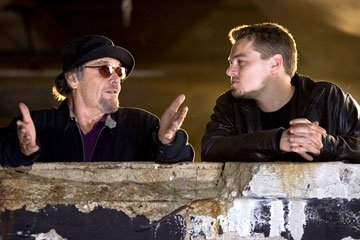 Jack Nicholson and Leonardo DiCaprio in Warner Bros. Pictures' The Departed