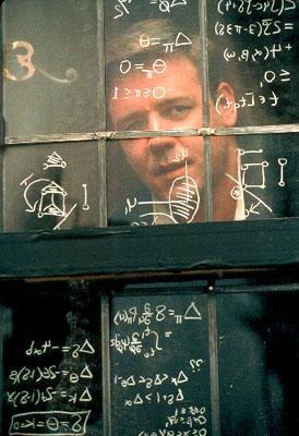 Russell Crowe as mathematical genius John Forbes Nash Jr. in Universal's A Beautiful Mind